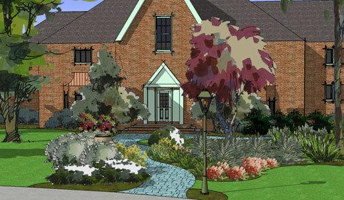 3d modeling tool for landscape designers for Garden design in 3d using sketchup