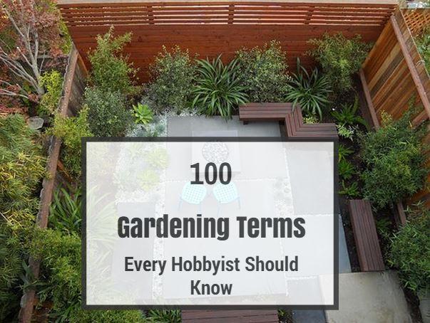 100 Gardening Terms