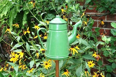 DIY Garden Decor with Tea Pot