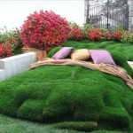 Creative DIY Gardening Idea # 12: Fluffy, Grassy Bed