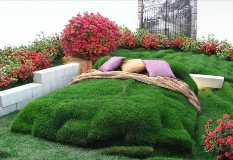 Creative DIY Gardening Idea 12 Fluffy Grassy Bed