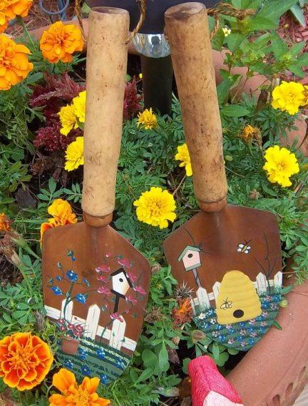 Painted Gardening Spades