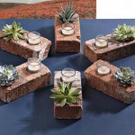 Creative DIY Gardening Idea # 25: Repurposed Brick Planter