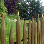 Creative DIY Gardening Idea # 27: Color Pencil Fence