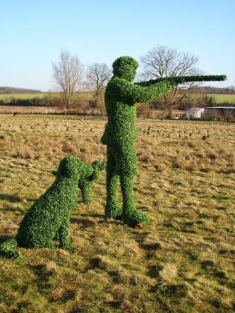 Hunter topiary